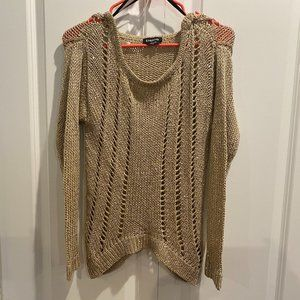 Bebe Tan Sweater with Sequin Detail - Medium
